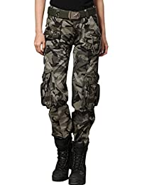 Women's Casual Camouflage Multi Pockets Cargo Pants