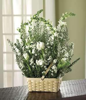 Funeral Floral Basket - Same Day Funeral Flower Arrangements - Buy Flowers for Funeral - Send Funeral Flowers Delivery & Condolence Flowers Today