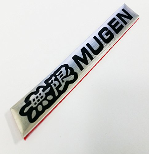 3D Car Aluminum Emblem Badge Sticker Decal Mugen Black For Acura Honda Civic Accord RSX PowerSport K