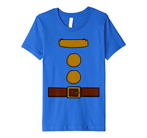 Kids Dwarf Halloween Group Costume Idea T-Shirt with name plaque 4 Royal Blue