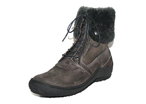 Wolky Cona - Botas de cuero para mujer gris gris - Dunlekgrau (col. 421 Antraciet Grig