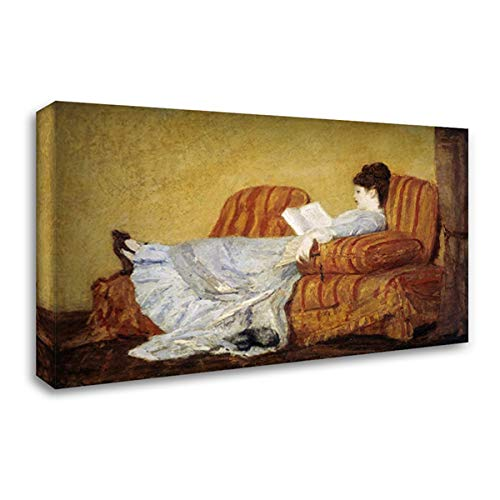 - Young Lady Reading 40x27 Gallery Wrapped Stretched Canvas Art by Cassatt, Mary