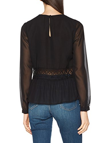 Para M Gaudì Inserti Negro Camisa black Pizzo In Blusa l Mujer Con 88nq6rgO