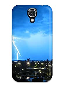 Awesome Lightning Flip Case With Fashion Design For Galaxy S4