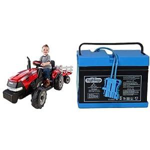 Peg-Perego-Case-IH-Magnum-TractorTrailer-with-12-Volt-Battery-Bundle