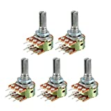 uxcell WH148 20K Ohm Variable Resistors Dual Turn
