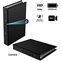 Kaposev Hidden Spy Book Camera,1080P Security Camera with Motion Detection Record and Night Vision,Built-in 10000mAh Battery Up to 2 Years Standby for Indoor Surveillance