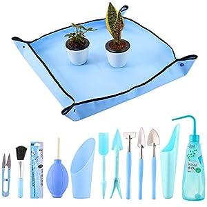 13 Pieces Mini Garden Hand Transplanting Succulent Tools Indoor Garden Plant Care Indoor Tools, Garden Kneelers Work…