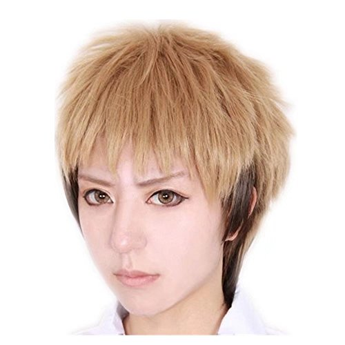 KADIYA Linen Mix Brown Short Cosplay Costume Wig Synthetic Hair for Boy ()