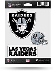 Rico Industries NFL Las Vegas Raiders Die Cut 3-Piece Triple Spirit Sticker Sheet