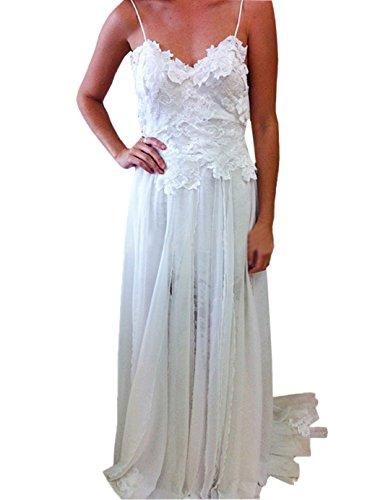 beach style lace wedding dress - 4