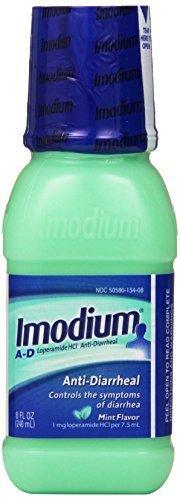 Imodium A-D Anti-Diarrheal Liquid, Mint Flavor 8-Ounce Bottle by (Imodium Ad Liquid Mint)