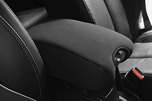 DEDC Neoprene Center Console Armrest Pad Cover for Jeep Wrangler JK Sahara Sport Rubicon X & Unlimited 2011 2012 2013 2014 2015 2016 2017 Black ()