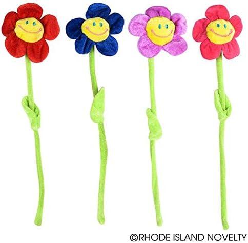 12 per order SG/_B00RU0QKHK/_US Rhode Island Novelty Bendable 13 Plush Smiling Face Daisy Flowers Party Supplies