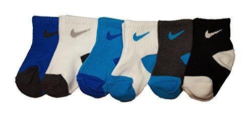 Nike Newborn Baby Socks, 6 PAIRS, Size 06-12 Months (Newborn Infant Jordan Shoes)