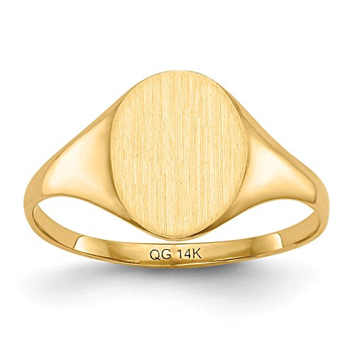Genuine 14k Yellow Gold Signet Ring Size 6