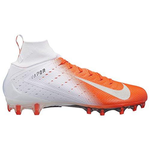 Nike Men's Vapor Untouchable 3 Pro Football Cleats - White/Silver/Orange, 10 D(M) US ()