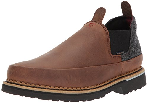(Georgia Boot Mens Romeo Loafer, Charcoal Brown, 10 Wide US)