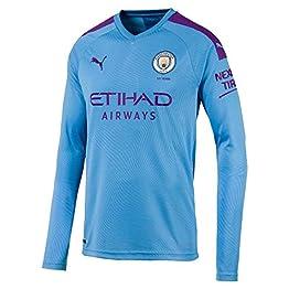 PUMA 2019-2020 Manchester City Home Long Sleeve Football Soccer T-Shirt Maillot