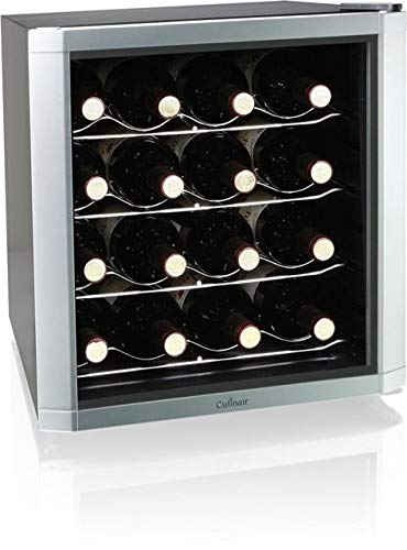 Powder Coating California - Culinair AW162S Thermoelectric 16-Bottle Wine Cooler, Silver/Black
