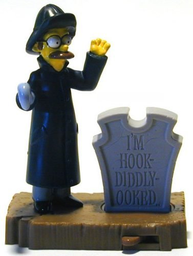 Ned Flanders 2001- Simpsons Figure - Burger King - Doll Toy