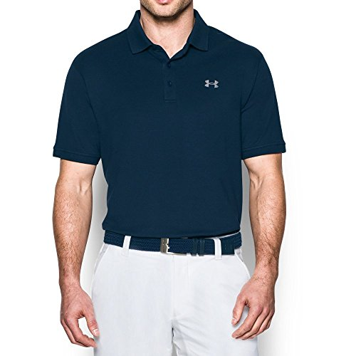 Under Armour Men's Performance Cotton Polo, Academy (408)/Steel, (Under Armour Cotton Polo Shirt)