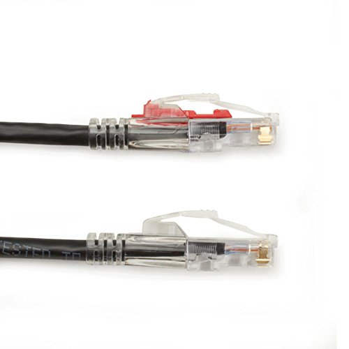 0.3-m C6PC70-BK-01 UTP Black 1-ft. Black Box GigaTrue 3 CAT6 550-MHz Lockable Patch Cable