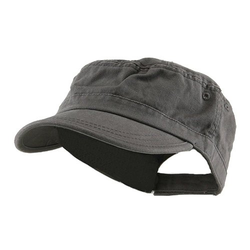 - Wholesale Enzyme Washed Cotton Army Cadet Castro Hats (Grey) - 20770  One Size