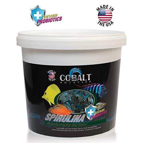 - Cobalt Aquatics Spirulina Fish Food Flakes with Probiotics