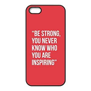 the Case Shop- Life Motto Quotes TPU Rubber Hard Back Case Silicone Cover Skin for iPhone 5 and iPhone 5S , i5xq-534