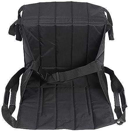 HNYG Cinturón de asiento para silla de ruedas, elevador de paciente, tabla deslizante para escalera, cinturón de seguridad de cuerpo completo para personas mayores, Handicap (negro)