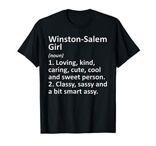 WINSTON-SALEM GIRL NC NORTH CAROLINA Funny City Home Gift T-Shirt (Winston Christmas Home Children's Salem)