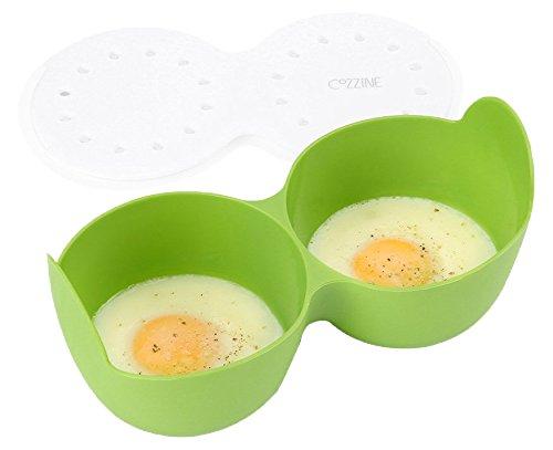 Escalfador de huevos para microondas, cozzine anillos de silicona ...
