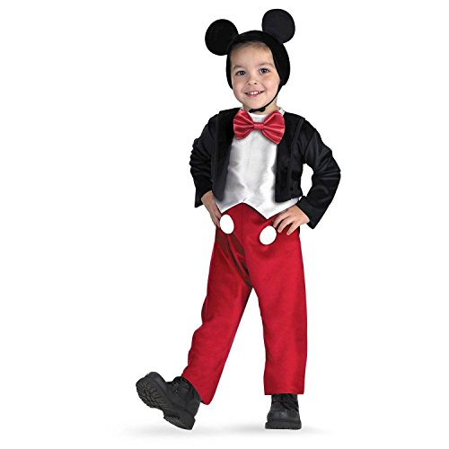 Pluto Disney Costumes (Disney Junior Plush Mickey Mouse Costume with Plush Pluto Wristband Toddler Size 2T)
