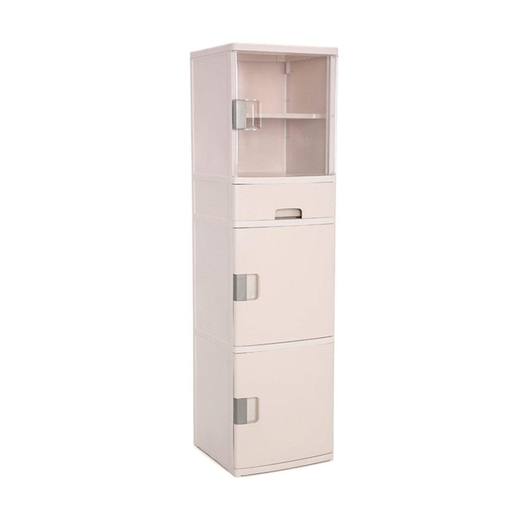 Zzg-2 Kitchen Storage Box, Multi-Layer Transparent Seasoning Finishing Cabinet Multifunction High Capacity Plastic Chest of Drawers (Color : Beige)
