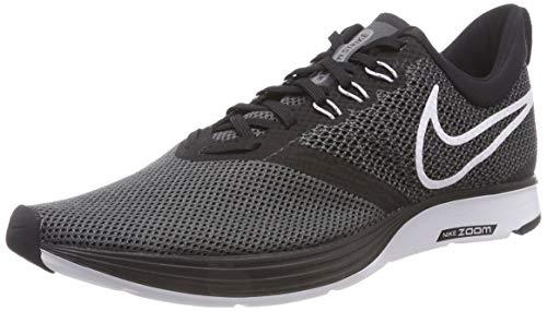 NIKE Men's Zoom Strike Running Shoes Black/White-dark Grey-anthracite