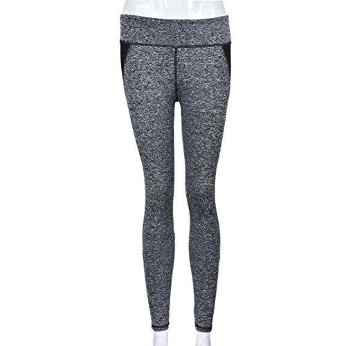 HARRYSTORE Mujer Pantalones elástico de yoga y fitness Mujer Pantalones deportivos cómodos mujer Polainas Legging Negro