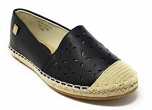 Slippers Smocking Espadrille Shoes Original On Women Forever Flats Slip Loafer Black Young pqzv7v