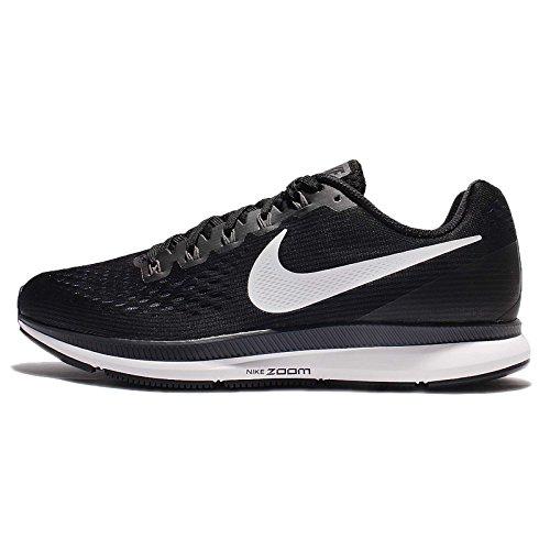 Nike Men's Air Zoom Pegasus 34 Running Shoe Black/White-Dark Grey-Anthracite 12.0
