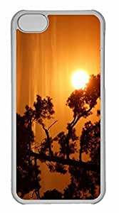 iPhone 5C Case, Personalized Custom Sun On A Tree Branch for iPhone 5C PC Clear Case by mcsharks