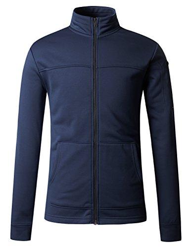 (Regna X Men Zipped Thermal Track Navy Medium Fleece arm Pocket Jackets)