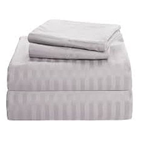 300TC Egyptian Cotton Quality Sheet Set KING HUNTER STRIPE