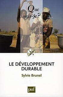 Couverture du livre de Le développement durable