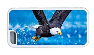 Hipster customized for iphone 5/5S case Bald Eagle Flying TPU White for Apple for iphone 5/5S