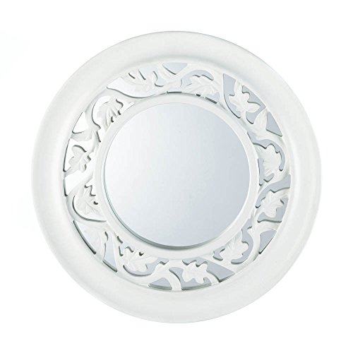 Eastwind Gifts 10016672 White Ivy Wall Mirror - White Ivy Glass