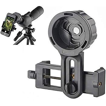 Yosoo Universal Astronomical Camera Adapter Smartphone Capturer Holder Mount Barcket Quick Photography Adapter Mount Connector for Binoculars Monocular Scopes Telescopes Spotting Scope 26.4-46.4mm
