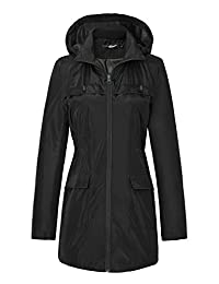 Urban CoCo Women's Hooded Long Sleeve Waterproof Rain Jacket