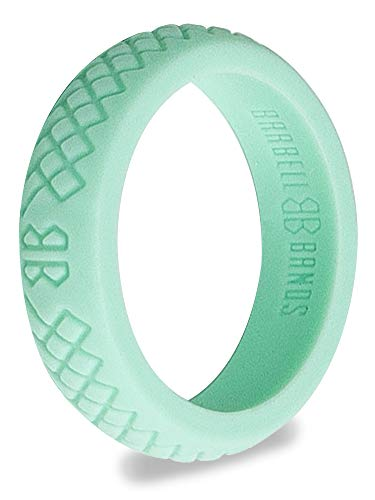 Barbell Bands Silicone Ring for Women | Premium Rubber Wedding Band | Perfect for Fitness, Lifting, Active Lifestyle - Comfortable and Durable from Barbell Bands