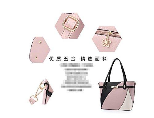 Pink Mano Europea Bag Meaeo De Bolso Messenger negro Señoras Moda Gran 4OUv7Uxq