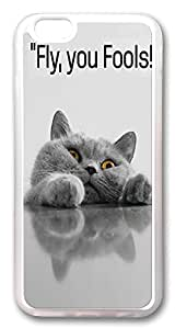 "ICORER iPhone 6 Plus Case 5.5"" Fly You Fools Cute Designer Apple iPhone 6 Plus Case and Cover TPU Rubber Transparent"